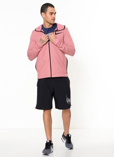 Nike Fermuarlı Kapüşonlu Sweatshirt Kırmızı